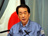 Japanese Prime Minister Naoto Kan delivers a message to the Japanese people at his official residence in Tokyo on March 25, 2011
